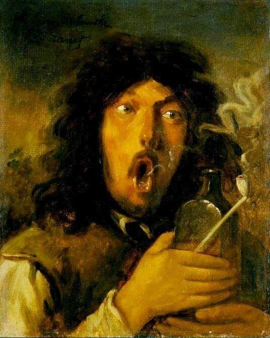 Edouard Manet. El bebedor de absenta.1858.