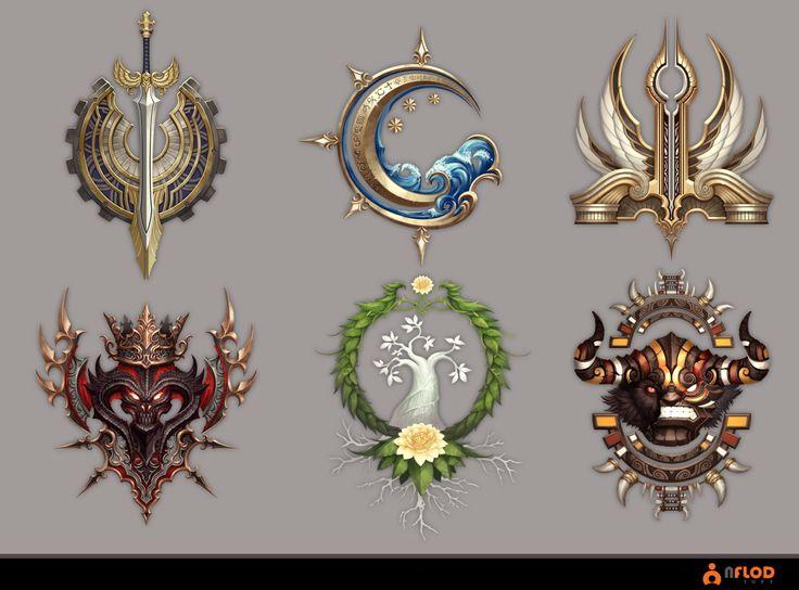 Emblem, 몽당 연필 on ArtStation at https://www.artstation.com/artwork/xZAy1