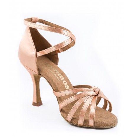 Chaussures de danse latine beige