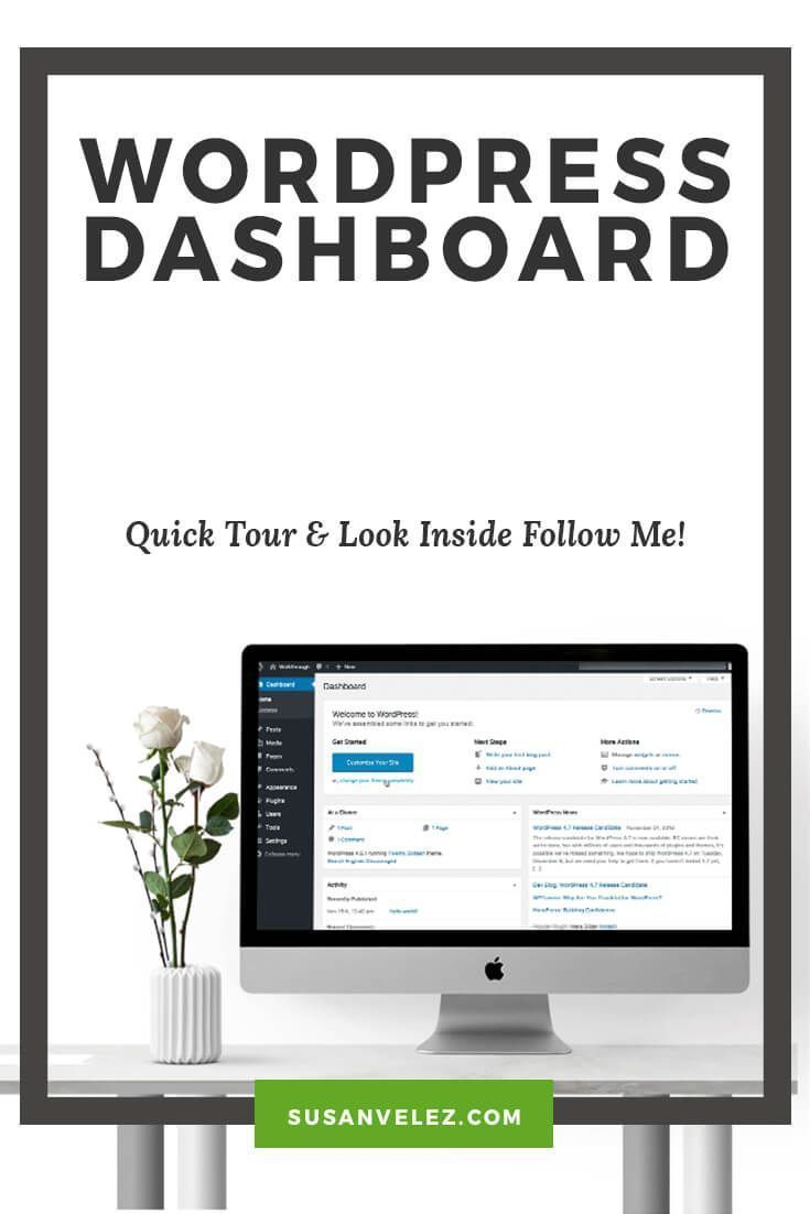 I used to think that learning how to use the WordPress Dashboard was difficult. If you're just starting to write your blog posts, follow this step by step tutorial that will help you get familiar with your website.