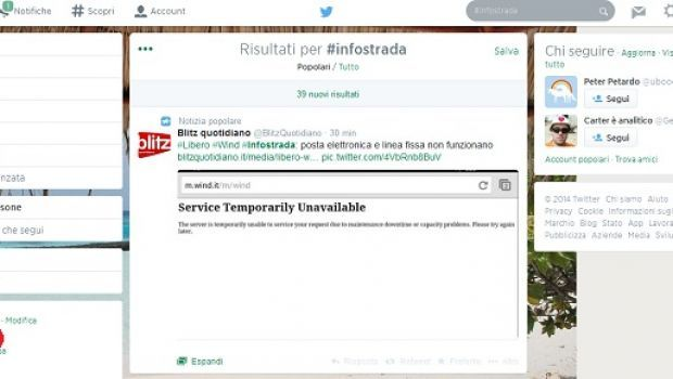 Twitter: è trending topic #infostrada per il crash di Wind, i tweet più divertenti