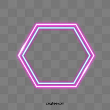 Multilayer Geometric Border Of Neon Lamp Triangle Luminous Efficiency Geometric Border Png Transparent Clipart Image And Psd File For Free Download Background Design Vector Hexagon Design Hexagon