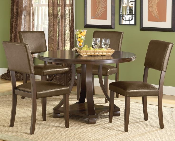 Dining Room Contemporary 5 Piece Dining Set Design With Rug Under The Table And Paintings Choosing Five Piece Dining Set For Your Dining Room