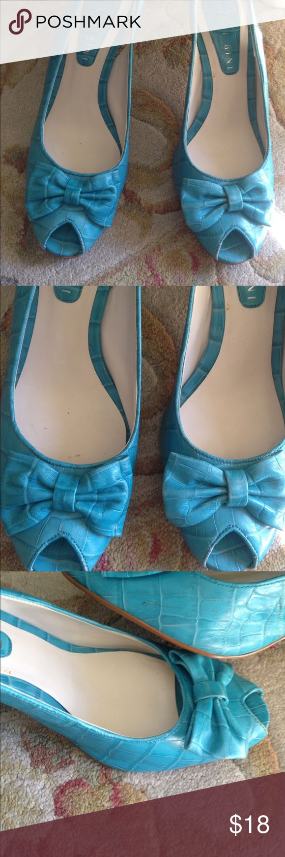 GIANNI BINI Turquoise Slingback Sandals Excellent condition minor signs of wear Heel Height 3 inches Gianni Bini Shoes Sandals