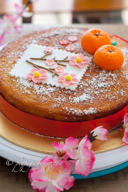 Chinese New Year Cake (nigella's clementine cake) | by pigpigscorner, via Flickr