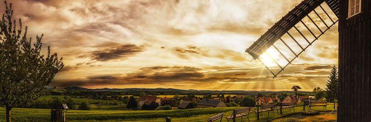 """Uwe Wiedemann - """"Sunset"""".  Hier gehts zur Gesamtübersicht: http://pxm.li/6ryCDE #Sommer #Foto #Sonne #Mühle"""