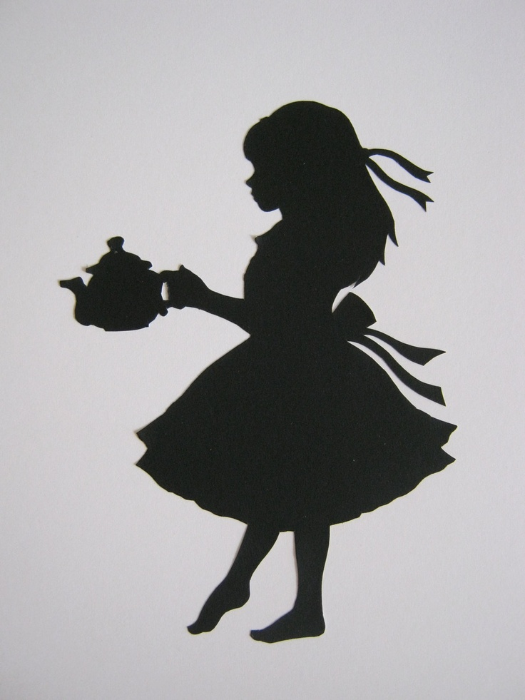 Alice in Wonderland Silhouette | The shape, Girls and Wall ...