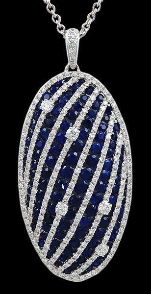 Salavetti diamond & sapphire necklace Buy natural #gemstones online at mystichue.com