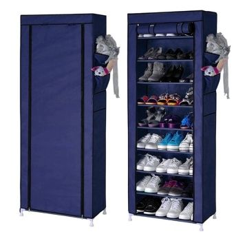 Buy Quality 10 Layer 9 Grid Shoe Rack Storage Shelf Organizer Cabinet Cover Pockets (Dark Blue) online at Lazada. Discount prices and promotional sale on all. Free Shipping.