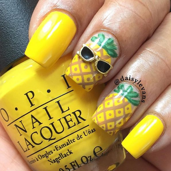 25+ best ideas about Pineapple Nails on Pinterest : Beach nails, Beach ...