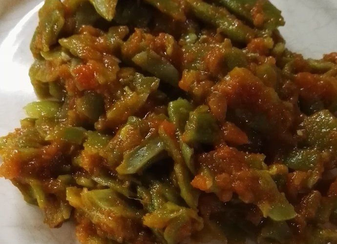 Judías verdes con tomate para #Mycook http://www.mycook.es/cocina/receta/judias-verdes-con-tomate