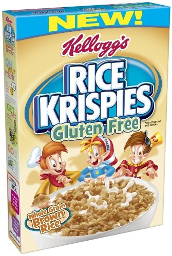 Kellogg's Rice Krispies Gluten Free Cereal, Whole Grain Brown Rice, 12-Ounce Boxes (Pack of 4) $15.59