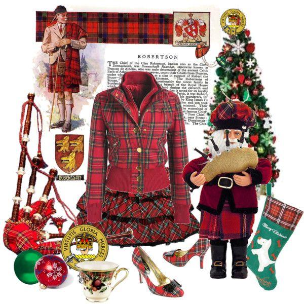 """Robertson Tartan Christmas (Scotland)"" by carolshistoricalgroup on Polyvore"
