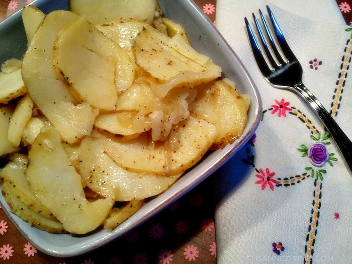 Mom's Stove Top Sliced Potatoes with Onion  Simply to die for!!!