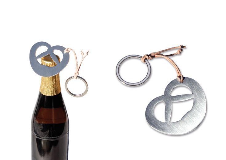 Pretzel bottle opener - just the thing for Oktoberfest!