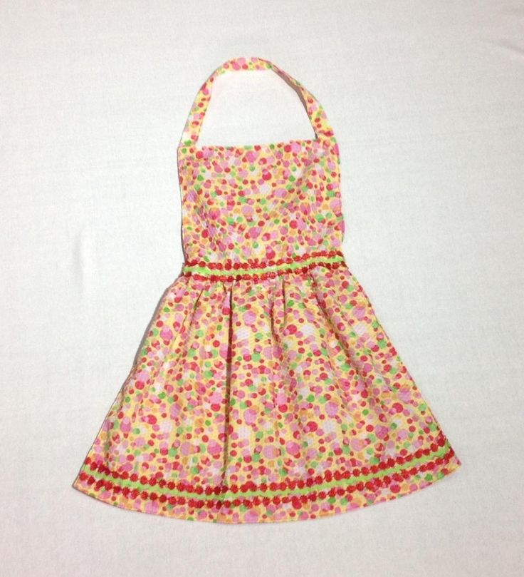 Girls pretty apron reversible by shezware on Etsy
