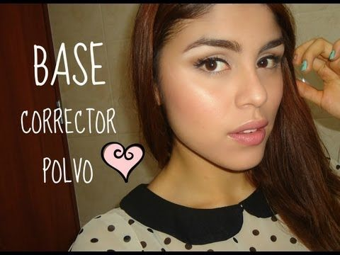 Como aplicar Base, Corrector y Polvo ♡ - YouTube