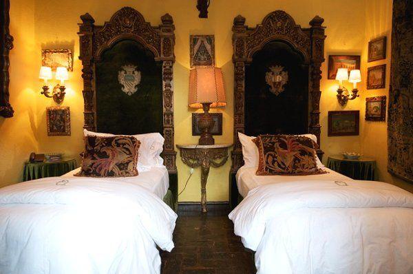 Hacienda bedroom Mexico Quinta Quebrada