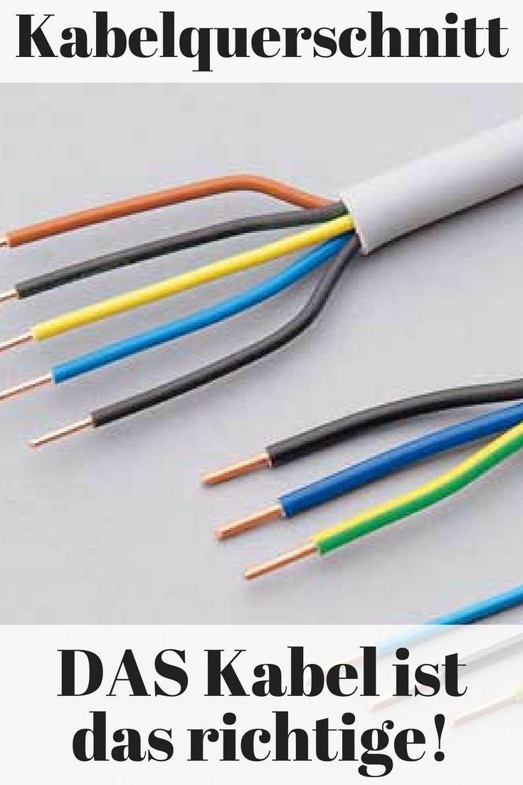 kabelquerschitt hausinstallation | merker | pinterest | elektro