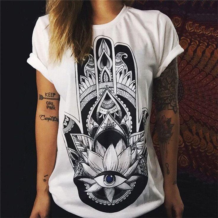 Купить товарВалентина Рубашки 2016 Женщин футболка Летние Топы Punk Rock…