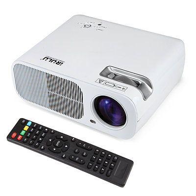 "IRULU HD LCD Projector 1080P  Home Cinema Theater 5"" TFT HDMI USB SD TV White"