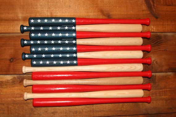 American Flag made out of baseball bats. Mini by homerunputter, $90.00 + $15 shipping