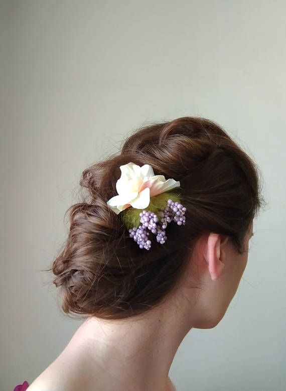 Flower hair clip flower headpiece spring wedding hair