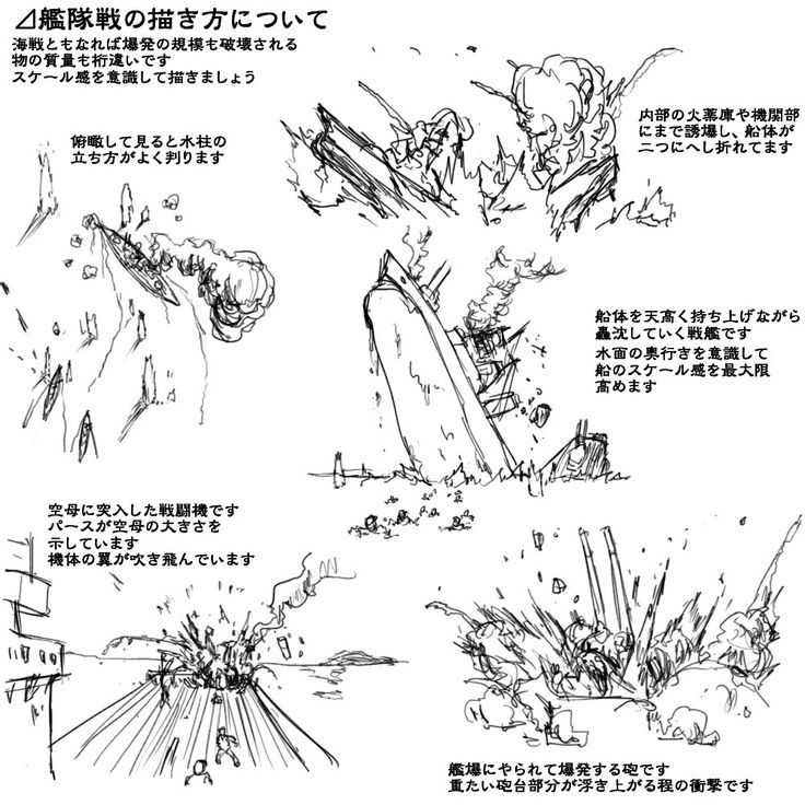 理屈に基づいた爆発の描き方まとめ [41]