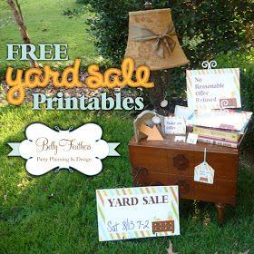 Free Printable Yard Sale Signs