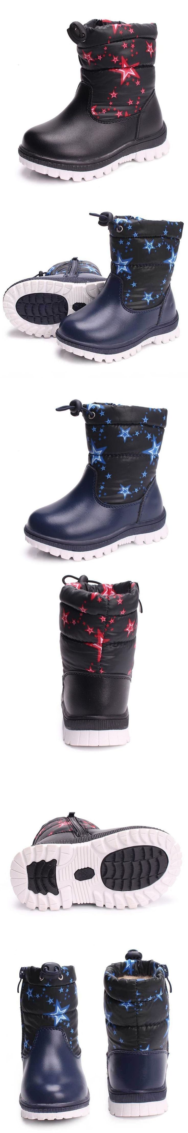 Boys & Girls Winter Shoes Kids Snow Boots Waterproof Non-slip Children Boots Toddler Print Thick Plush Shoes Black #toddlersnowbootsboy #toddlerbootsboy #childrensnow #toddlersnowbootsgirl