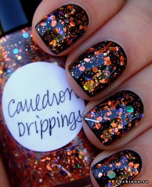 glitter nail polish лак ногти блёстки новый год маникюр