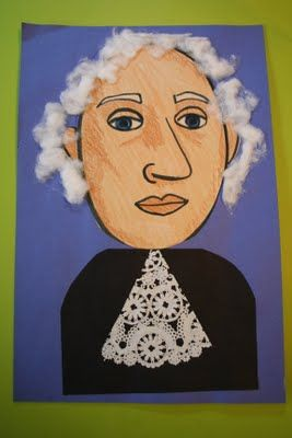 President's Day Portraits: Mixed Media Art Lesson for Kids