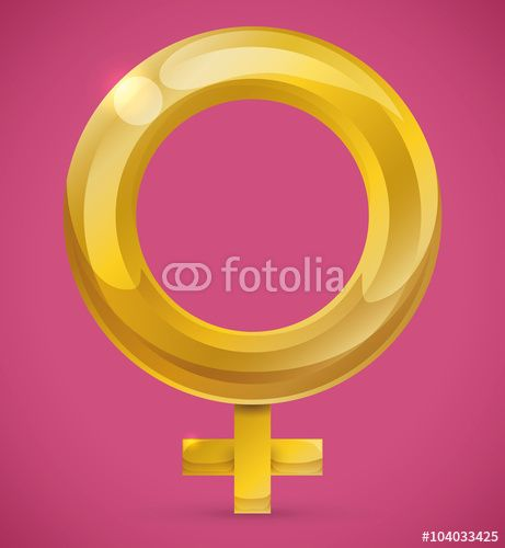 Woman Symbol Isolated in Pink Background
