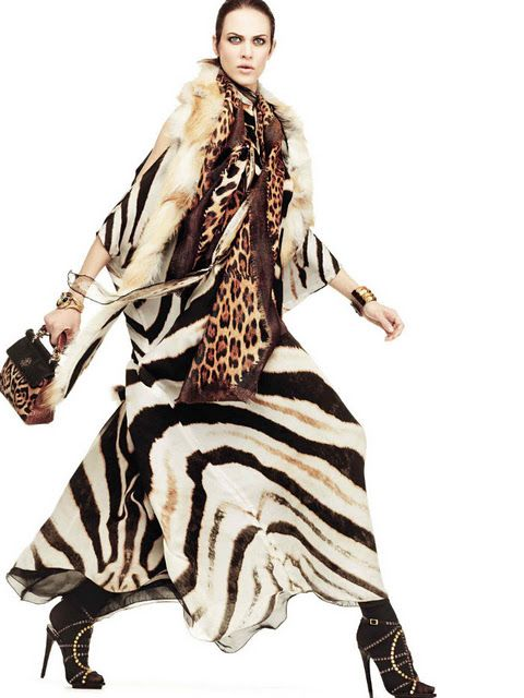 Aymeline Valade for Roberto Cavalli Fall 2011 Winter 2012