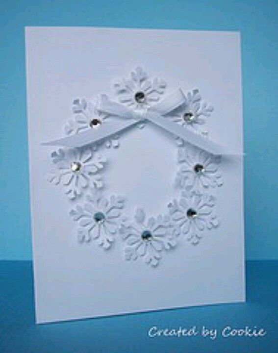 Cute way to use my snowflake punch. Glued on a sparkle in the middle of each.