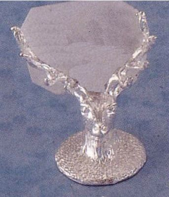 Silver Stag Place Card Holder. The great attention to detail in these British hallmarked sterling silver placecard holders is the signature of a true craftsman.  http://www.annabelchaffer.com/products/Silver-Stag-Place-Card-Holder.html