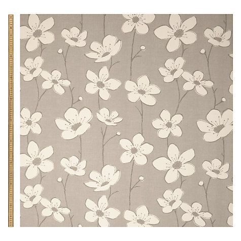 Buy John Lewis Amapolis Fabric, Grey Online at johnlewis.com