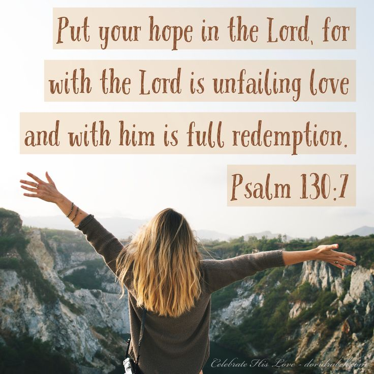 Today's encouraging thought... God's Word guarantees unfailing love and redemption through His Son Jesus Christ. There is no greater hope than this!