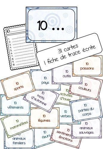 Make top 10 lists to practice vocabulary in French - français