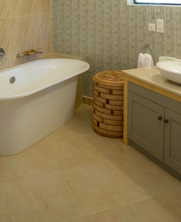 Delux chalet -  The bathrooms boast Victoria Albert Volcanic Limestone soaker baths and spacious showers