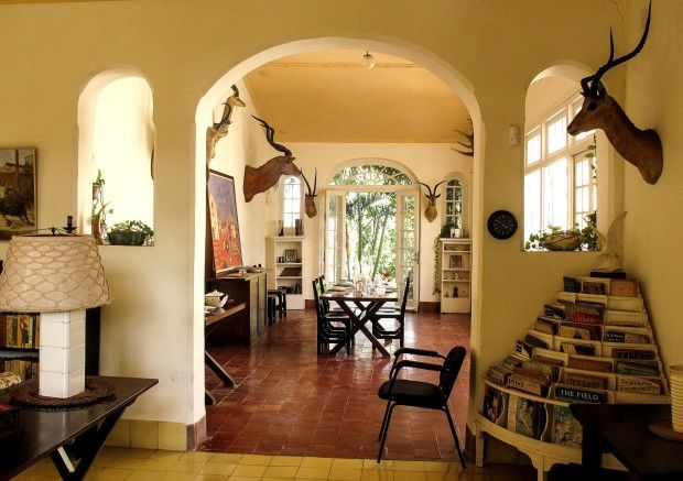 Oh! Hello there rounded corner magazine stand!! Ernest Hemingway's Havana house