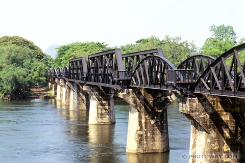 on River Kwai.Thaïland.  It was built in atrocious conditions, by the prisoners of the Japanese during World War II