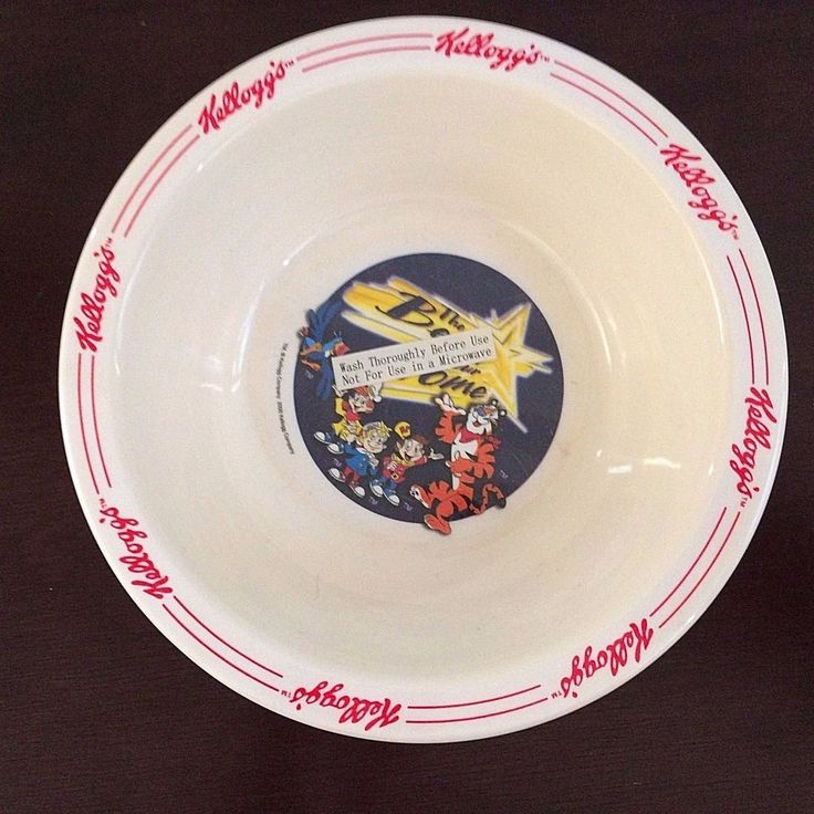 Kellogg Collectible Cereal Bowl 2000 Melamine Tony the Tiger Snap Crackle Pop #Kellogg