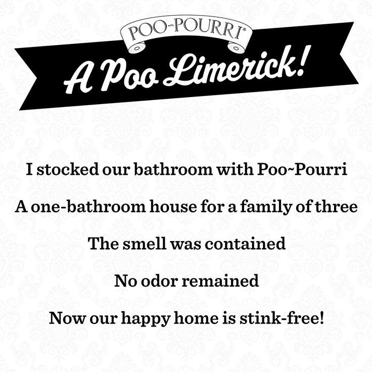 A Poo Pourri Limerick Shits Amp Giggles Pinterest