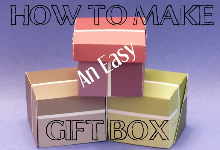 How To Make An Easy Gift Box Watch - http://youtu.be/vOwwCJakwX0  http://kidpep.com/blog/how-to-make-an-easy-gift-box-paint-chip-gift-boxes/