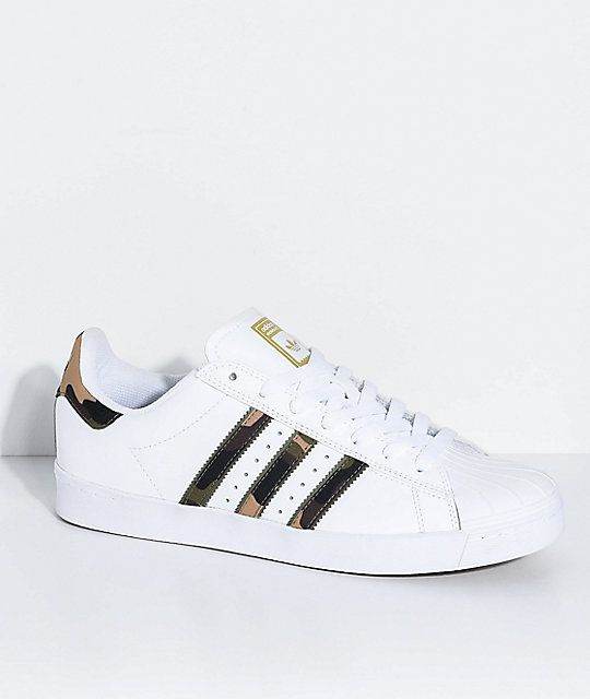 cec98b4b9 adidas Superstar Vulc White   Camo Shoes