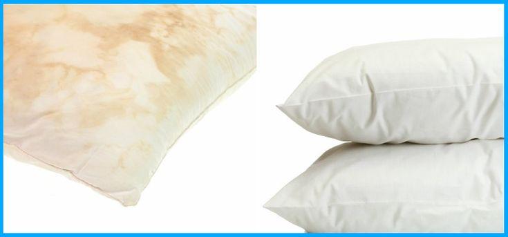 Jednoduchý trik, jak vybělit staré zažloutlé polštáře, aby vypadaly jako nové!