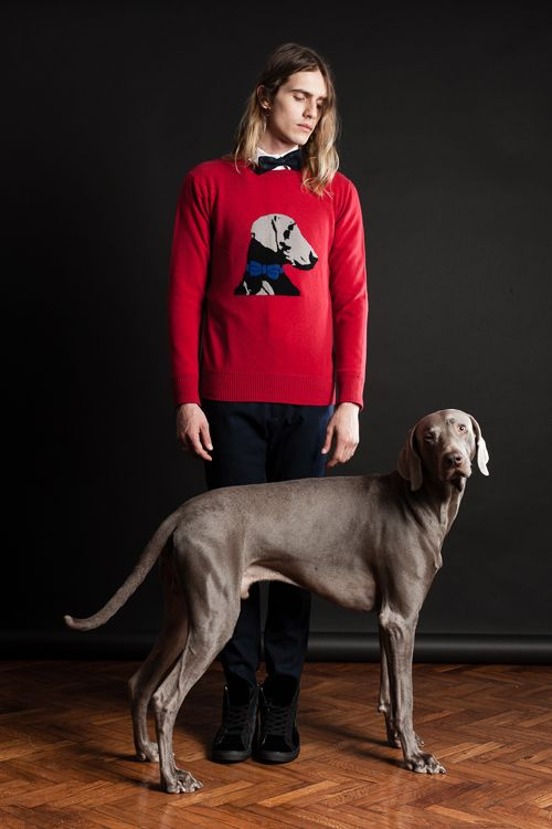 MAISON LVCHINO FW 14/15 Red Sweater with Ernesto's Embroidery & The Real Ernesto