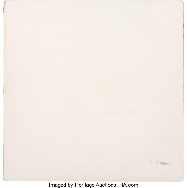 "Music Memorabilia:Recordings, The Beatles (""The White Album"") John Lennon Signed andLow-Numbered ""A0000011"" LP Cover (Apple SWBO 101, 1968)...."