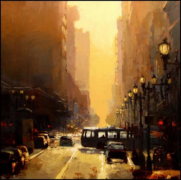 """Jeremy Mann """"Downtown Sunset"""""""
